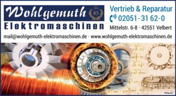 Anzeige Wohlgemuth Elektromaschinen
