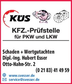Anzeige Kfz.-Prüfstelle KÜS