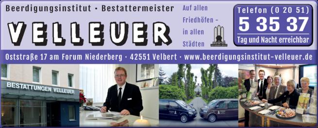 Anzeige Beerdigung Velleuer