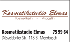 Anzeige Kosmetikstudio Elmas
