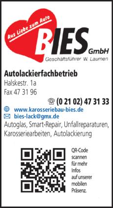 Anzeige Bies GmbH