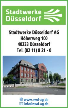 Anzeige Stadtwerke Düsseldorf AG