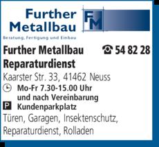Anzeige Further Metallbau GmbH
