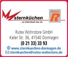 Anzeige Sternküchen @ Rutex Wohnstore