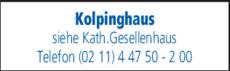 Anzeige Kolpinghaus