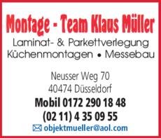 Anzeige Müller