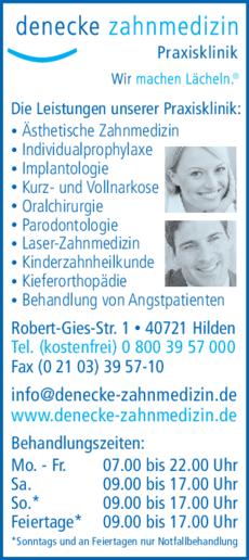 Anzeige Denecke Zahnmedizin