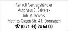 Anzeige Renault B. Beivers