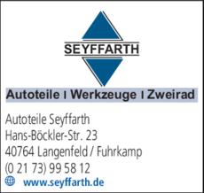 Anzeige Autoteile Seyffarth
