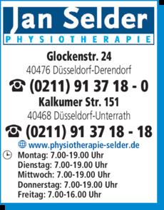 Anzeige Physiotherapie Selder