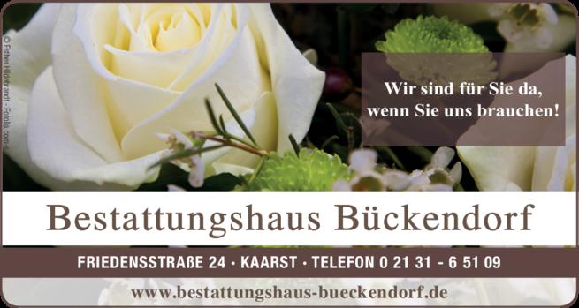 Anzeige Beerdigungen Bückendorf