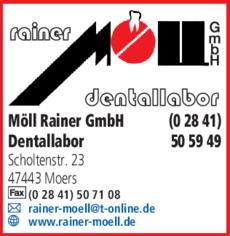 Anzeige Möll Rainer GmbH Dental-Labor
