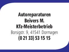 Anzeige Autoreparaturen Beivers M.