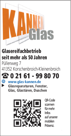 Anzeige Glas Kannen