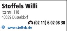 Anzeige Stoffels, Willi