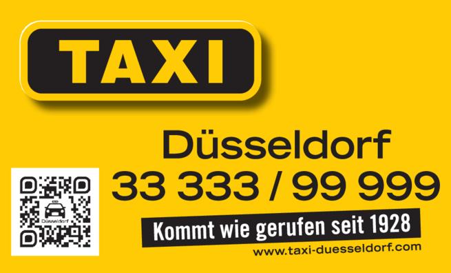 Anzeige Taxi-Düsseldorf eG