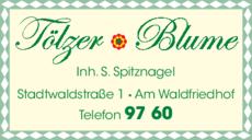 Anzeige Blumen - Tölzer Blume Inh. Sibylle Spitznagel