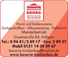 Anzeige Bavaria Trockenbau GmbH