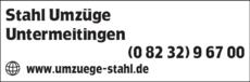 Anzeige Stahl Umzüge GmbH