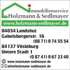 Anzeige Immobilien Holzmann & Sedlmayer