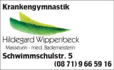 Anzeige Krankengymnastik Wippenbeck Hildegard