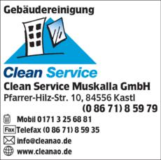 Anzeige Gebäudereinigung Clean Service Muskalla GmbH