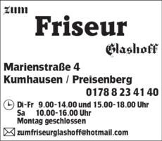 Anzeige Friseur Glashoff