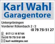 Bildergebnis für karl wahl garagentore  untergröningen logo