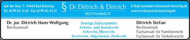 Anzeige Dittrich Hans-Wolfgang Dr.jur. , Dittrich Stefan