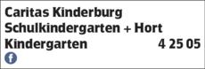 Anzeige Caritas Kinderburg
