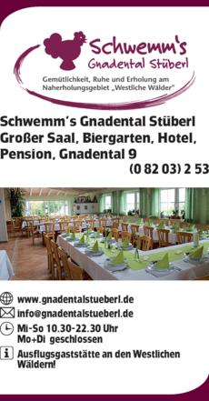 Anzeige Schwemm's Gnadental-Stüberl