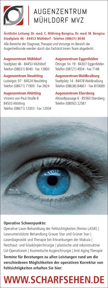 Anzeige Augenklinik Möhring-Bengisu Caroline Dr. u. Bengisu Mete Dr.