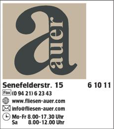 Anzeige Fliesen Auer GmbH