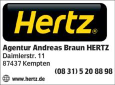 Anzeige Agentur Andreas Braun HERTZ
