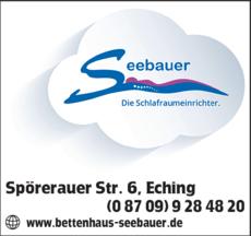 Anzeige Seebauer Die Schlafraumeinrichter OHG