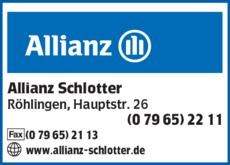 Anzeige Allianz Schlotter Walter