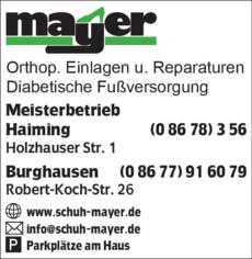 quality design 37bb7 09e8f Mayer Schuhe in Burghausen ⇒ in Das Örtliche