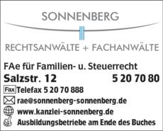 Anzeige Sonnenberg Rechtsanwälte