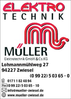 Anzeige Müller Christian, Elektrotechnik