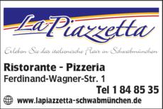 Anzeige La Piazzetta Ristorante - Pizzeria