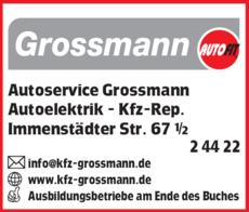 Anzeige Autoservice Grossmann