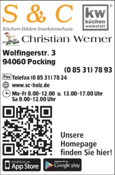 Anzeige Küchen, Boden, Insektenschutz Werner