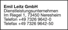 Anzeige Emil Leitz GmbH