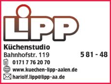Anzeige Küchenstudio Lipp