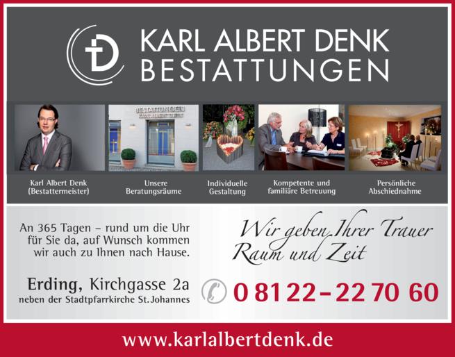 Anzeige Bestattungen Karl Albert Denk GmbH & Co. KG