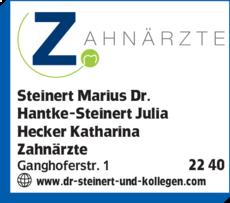Anzeige Steinert Marius , Hantke-Steinert Julia, Hecker Katharina