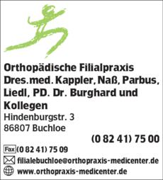 Anzeige Orthopädische Filialpraxis Dres.med. Kappler, Naß, Parbus