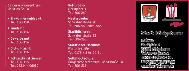 Anzeige Stadtverwaltung Königsbrunn