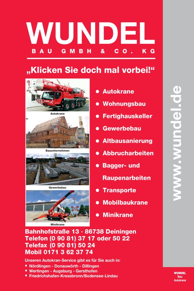Anzeige Autokrane Wundel Bau GmbH & Co. KG