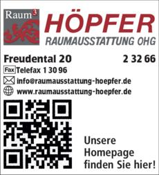 Anzeige Höpfer Raumausstattung OHG